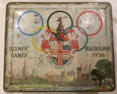 Olympic Games Collectable 1956 Melbourne Commemorative Cadburys Chocolates Tin