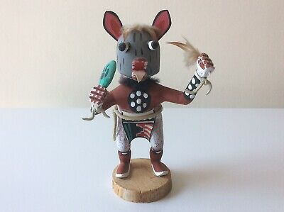 [Grey Wolf] NAVAJO KACHINA DOLL (Navajo Nation Reservation, USA)