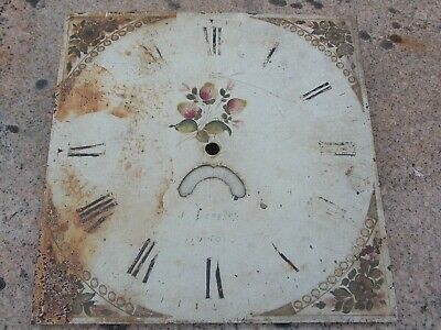 Spares for Antique 30 Hour Longcase Clock Movement & Dial