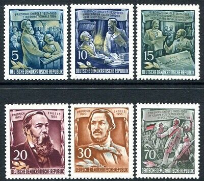 EAST GERMANY-1955 Engles Set of 6 Sg E228-233 UNMOUNTED MINT V31916