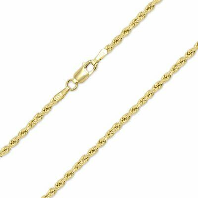 "14K Solid Yellow Gold Necklace Rope Chain 16'' 18"" 20"" 22"" 24"" 26"" 28"" 30"""