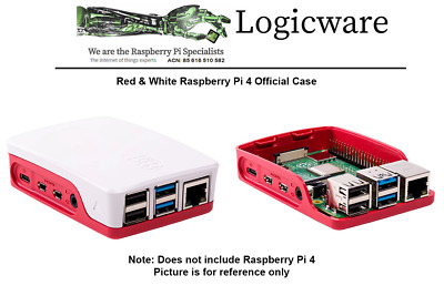 Official Raspberry Pi 4 Red and White case for Raspberry Pi 4 MADE IN UK