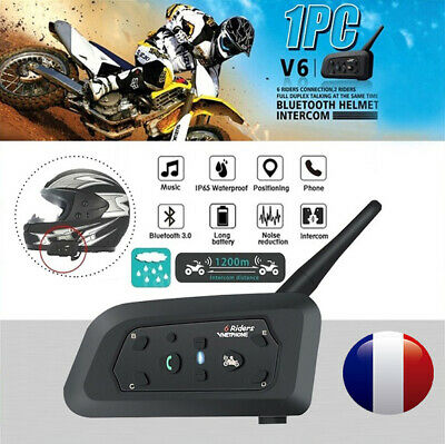 V6 1200M Moto Bluetooth Interphones Motorcycle Casque BT Intercom Helmet Headset