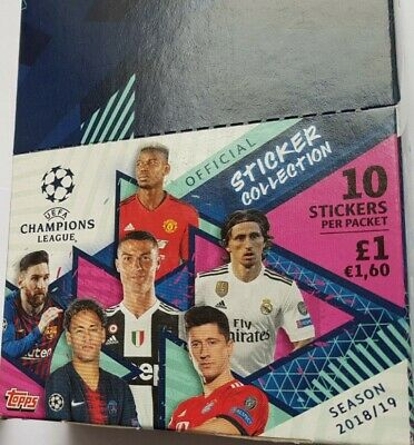 Topps Uefa Champions League Stickers 2018/19  Box Of 30 Packs