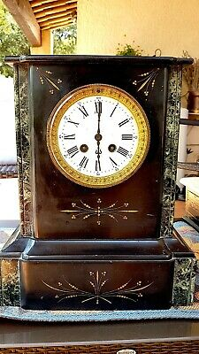 Beautiful French Marble Mantel Clock 1800s