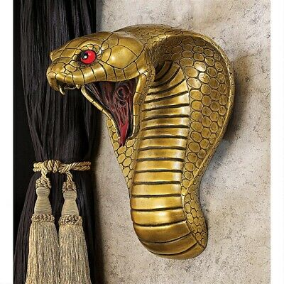 Renenutet Cobra Goddess Ready to Strike Egyptian Home Gallery Wall Sculpture