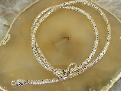 VINTAGE 3MM BOX CHAIN LINK BRACELET FAS ITALY STERLING SILVER 925 8