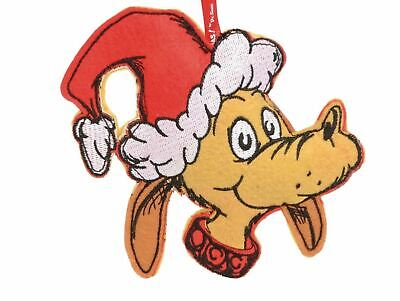How the Grinch Stole Christmas Dr. Seuss Max Dog Felt Holiday Ornament Licensed