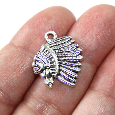 744cfb9e3e NATIVE AMERICAN CHARM Collection Deluxe Antique Silver Tone 16 ...