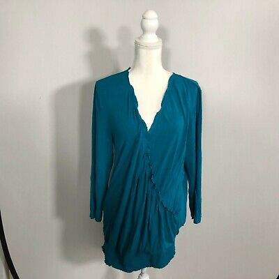 Motherhood Women Nursing Top Blouse Shirt Long Sleeve Size XL Rayon Blend - D142