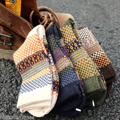 New 4 Pairs Mens Wool Mixture Angora Cashmere Warm Soft Thick Casual Dress Socks