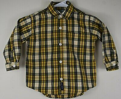 Toddler Boys' Size 2T Old Navy Toddler Plaid Cotton Long Sleeve Button Up Shirt