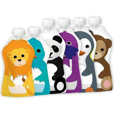 Reusable Baby Food Pouches Fill Squeeze Food Storage Bags Weaning Feeding Freeze