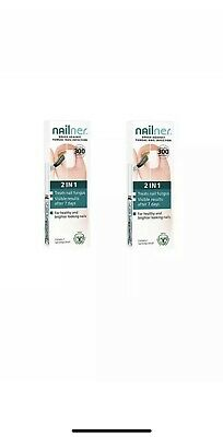 2 X Nailner Fungal Nail Infection 2IN1 Brush-5ml (10ml total)