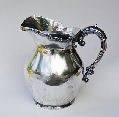 Silver Plate Pitcher Marion Co. Oregon Pioneer Family History Wilcox Silver 1895