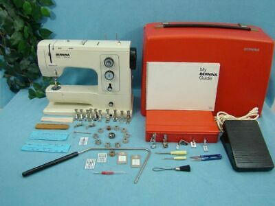 Heavy Duty Bernina 830 Record Sewing Machine Loaded With Original Accessories