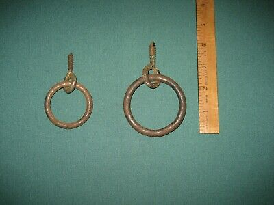 Antique Cast Iron Ring Hook Horse Hitching Plant Bird Cage Porch Screw Eye