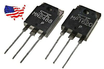MP1620 and  MN2488 Power Transistor Combo 1pc each
