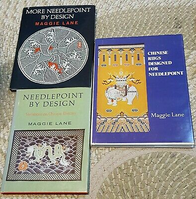 3 Chinese Needlepoint Books by Lane Maggie