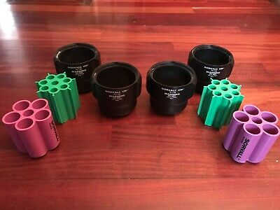 Sorvall (4) Pn 11788 Buckets & Adapters 00447 & 00436