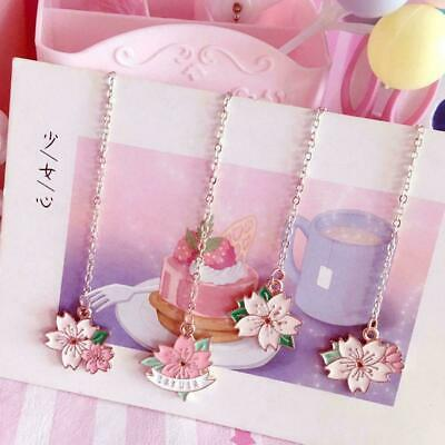 Novelty Cherry Blossom Pendant Bookmark Stationery Office Supplies S T4O1