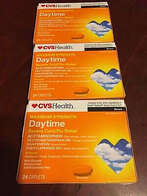 2 CVS HEALTH Daytime Multi-Symptom Cold/Flu Relief 24