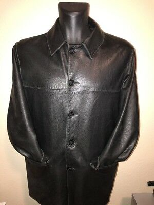 Men's Vintage Austin Reed Leather/ Corduroy Reversible Jacket Medium Rare