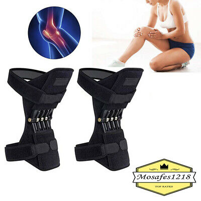 Knee Joint Support Brace Lift Booster Leg Pad Sport Spring Force Pain Relief 2X