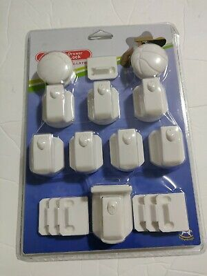 Magnetic Cabinet Locks For Child Baby Proof Safety Cupboard Door 8 Locks & 2 key