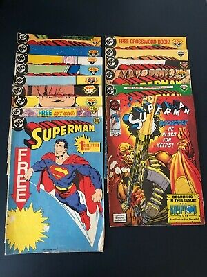 DC Superman 1988 complete comic book collection (issue no.1-15)