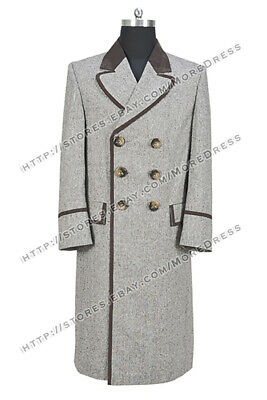 Who Buy Doctor The 4th Fourth Dr Tom Baker Cosplay Costume Wool Coat Halloween