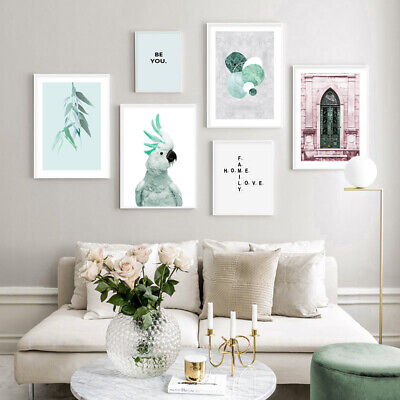 Cockatoo Leaf Family Quotes Poster Nordic Canvas Art Print Wall Picture Decor