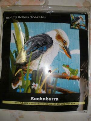 Country Threads Long Stitch Tapestry Kit Kookaburra New & Sealed