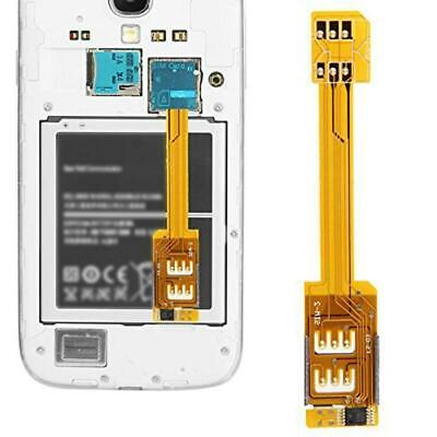 Dual SIM Card Adapter For Samsung Galaxy S5 S4 i9500 Note i9300 2 3 S3 M1O0