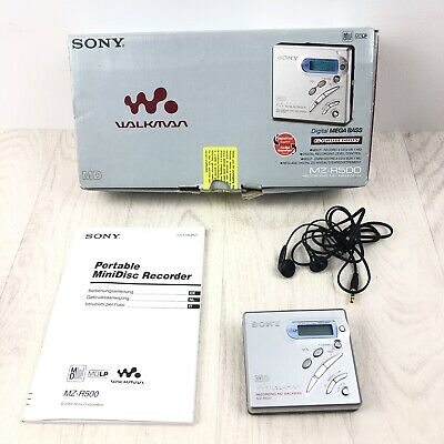 Sony Recording MD Walkman MZ-R500 - Grey Boxed With Headphones & Manual