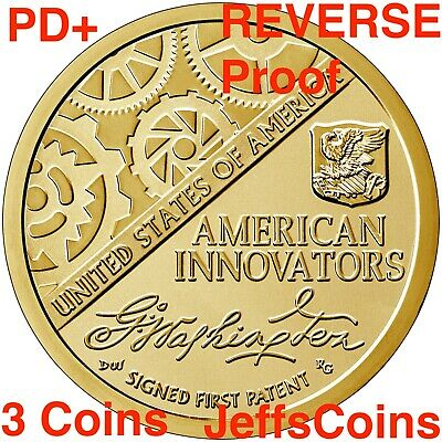 2018 P D S REVERSE Proof American Innovation Dollar Golden 3 Coins PDS 2019 18ge