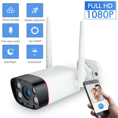 Wireless FHD 1080P WIFI IP Camera Two-way Audio Outdoor Security IR Night Vision