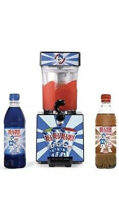 Slush Puppie Machine Frozen Ice Slushie Drink Maker-inc 2 Syrups. Starter Kit.