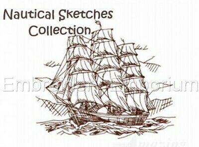 Nautical Sketches Collection - Machine Embroidery Designs On Cd Or Usb