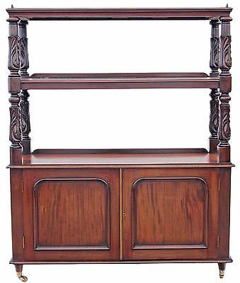 Antique Victorian 19C carved buffet serving table side occasional