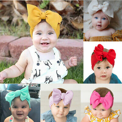 Infant Baby Girls Kids Bunny Rabbit Bow Knot Turban Headband Hair Band Headwrap