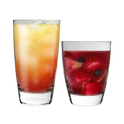 Glass Tumblers Set Highball DOF Double Old Fashioned Whisky Glasses 8pc