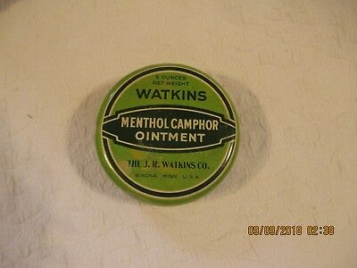 WATKINS vintage tin with MENTHOL CAMPHOR OINTMENT in it