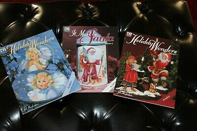 3 Jill Macfarlane Decorative Painting Pattern Book Lot Holiday Christmas