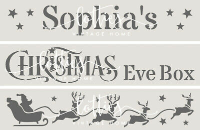 CHRISTMAS EVE Mix & Match STENCIL PANELS CRATES BOXES MAKE YOUR OWN 190 MYLAR