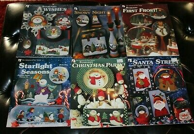 6 Bev Johnston Starlight Decorative Painting Pattern Book Lot Holiday Christmas