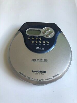 GOODMANS GCD-421PLL PERSONAL PORTABLE CD PLAYER FM MW Radio, RETRO MUSIC