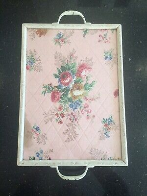 Vintage Quilted Glass Dresser Tray