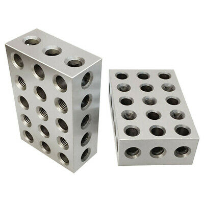 1 Set Of 2 Blocks 4-5-6 Hardened Tool Steel And Precision Ground Metal Blocks