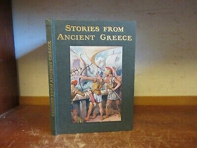 Old STORIES FROM ANCIENT GREECE Book WAR MARATHON SALAMIS ATHENS SOCRATES GREEK